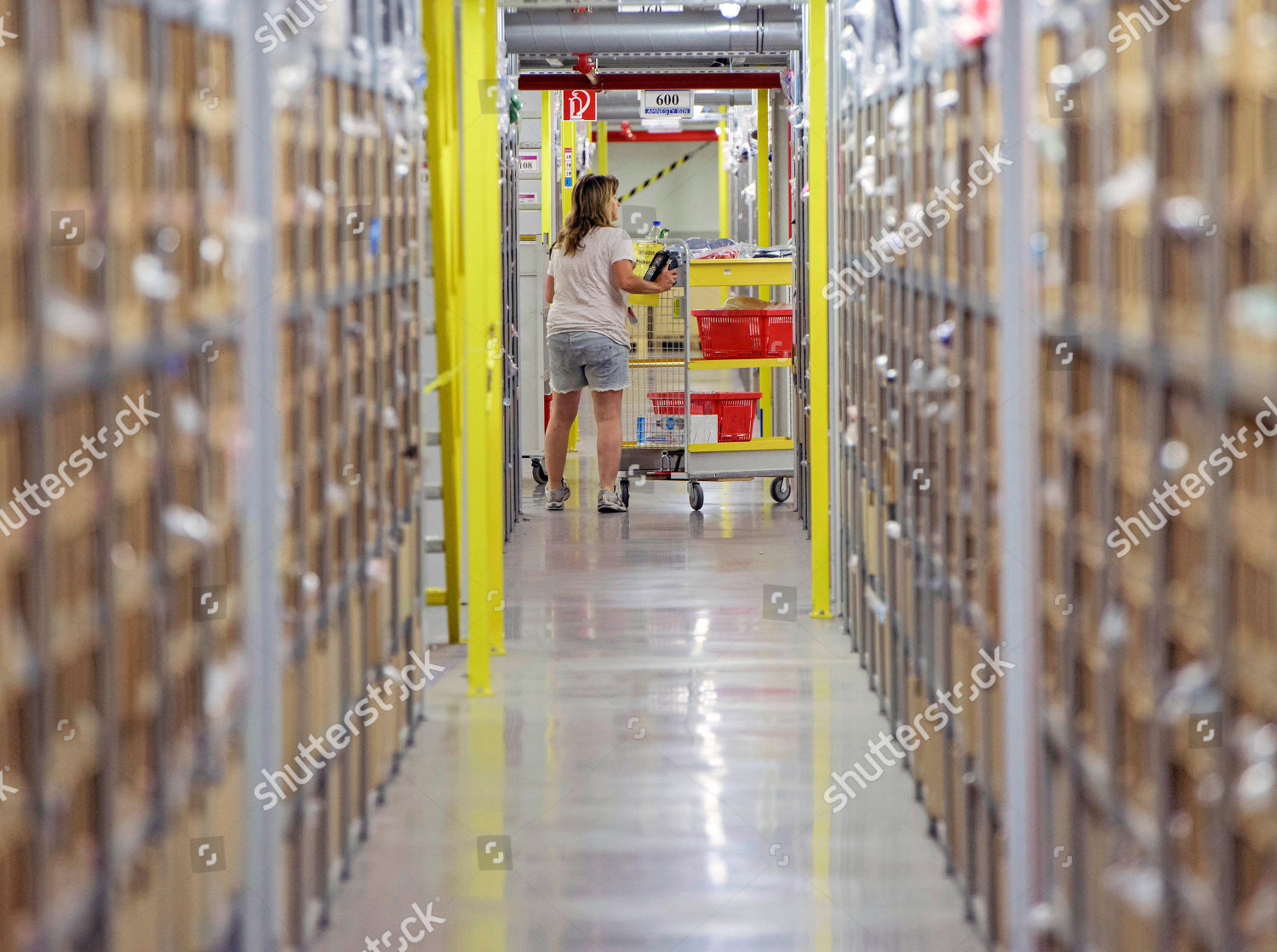 Woman Works Distribution Center Online Retailer Amazon Editorial