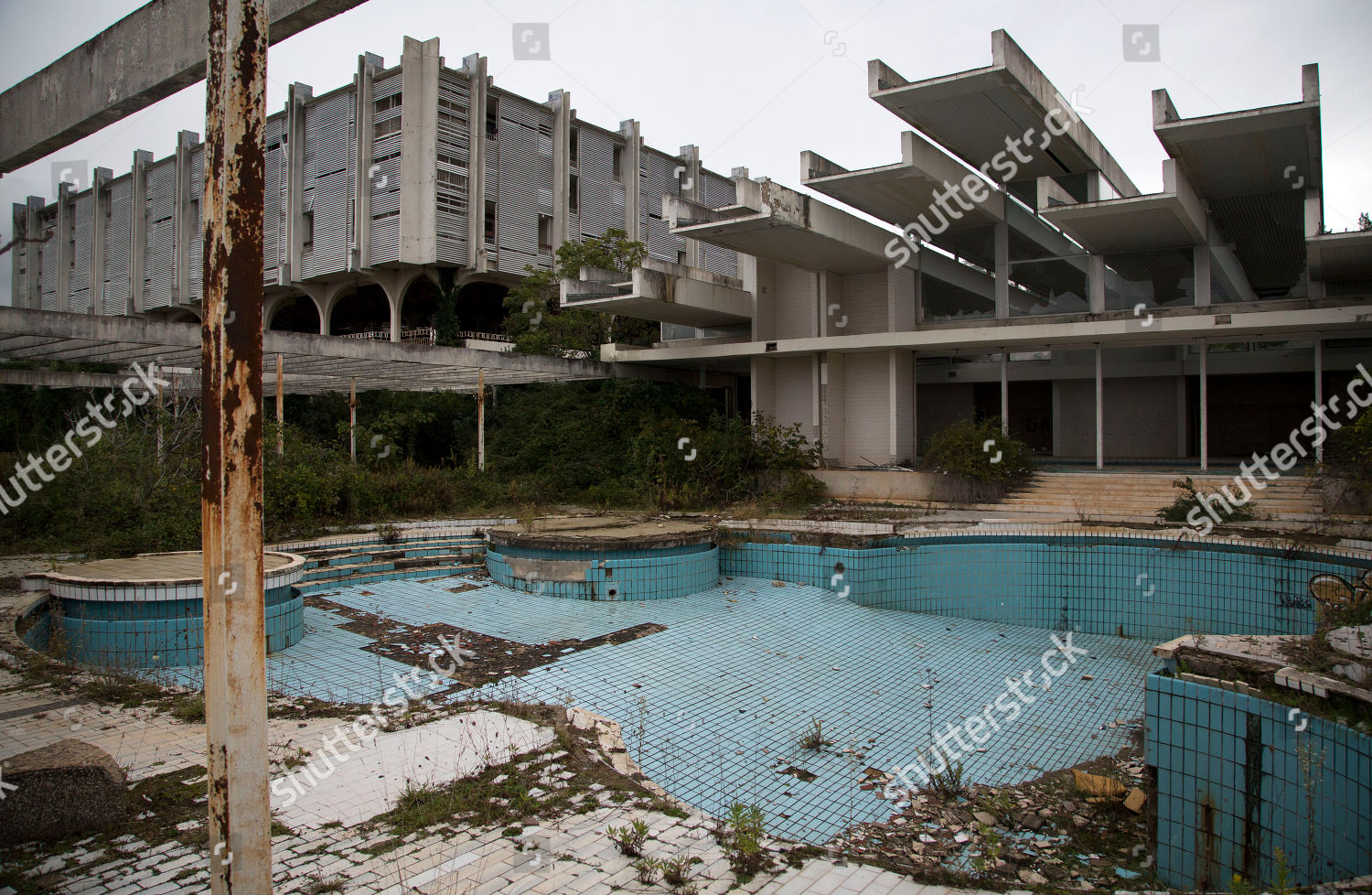 Swimming Pool Abandoned Palace Hotel Deserted Tourist Editorial Stock Photo Stock Image Shutterstock