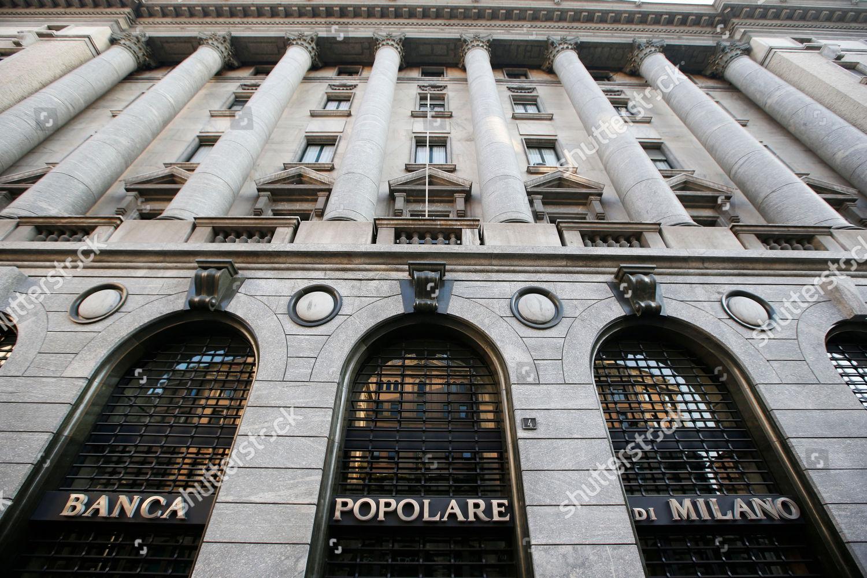 View Banca Popolare Di Milano Bank Branch Editorial Stock Photo