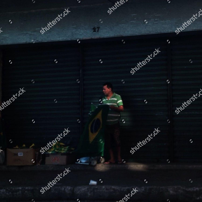 Street vendor Manaus Brazil Editorial Stock Photo - Stock Image