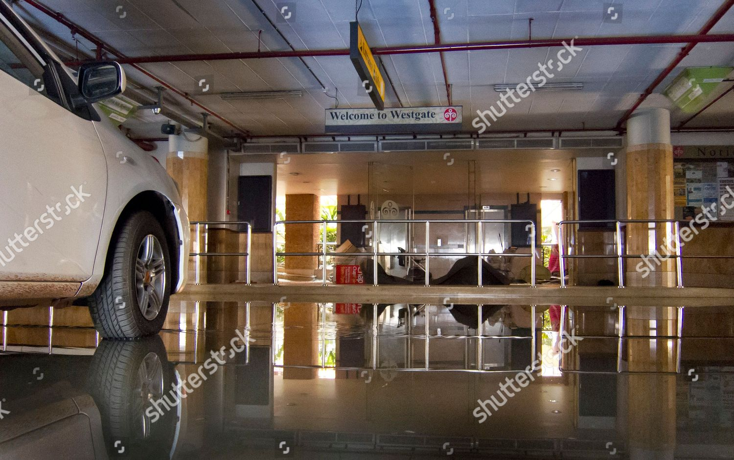 Basement Car Park Entrance Shopping Center Reflected Editorial Stock Photo Stock Image Shutterstock