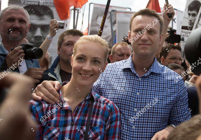 Alexei Navalny Yulia Navalnaya Russian opposition leader ...