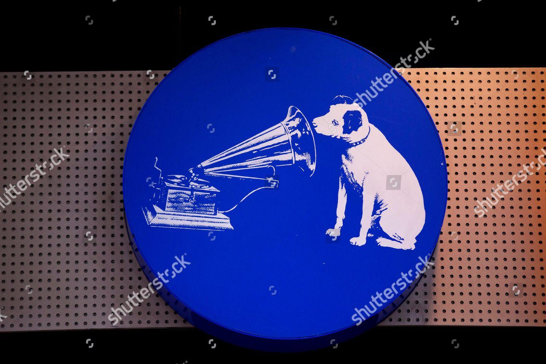 Hmv Logo Featuring Nipper Dog Gramophone Hangs Editorial Stock Photo