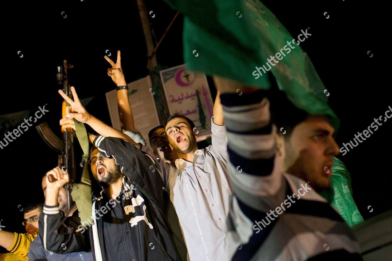 Palestinians celebrate announcement ceasefire between Hamas Israel