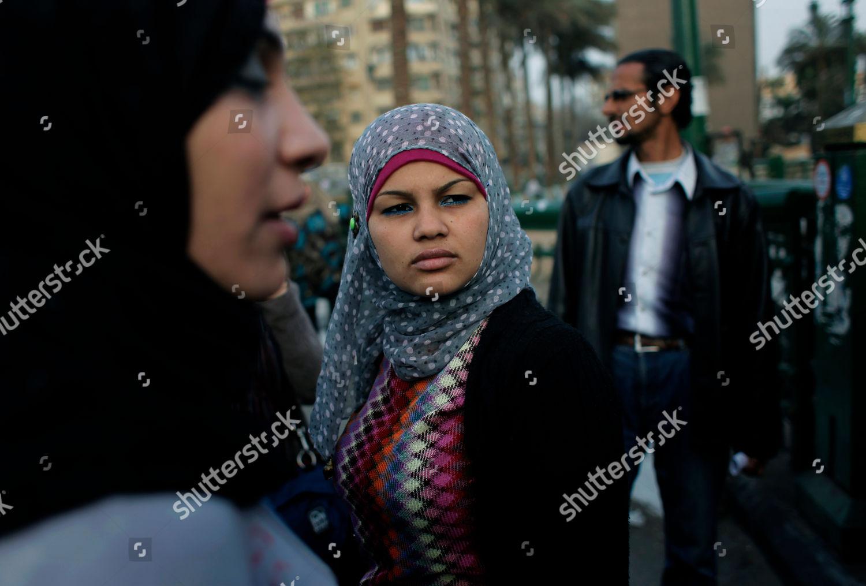 Egyptian Activist Samira Ibrahim Center Attends Anti Editorial Stock Photo Stock Image Shutterstock