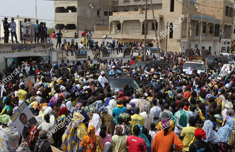 Abdoulaye Wade Senegalese President Abdoulaye Wade center