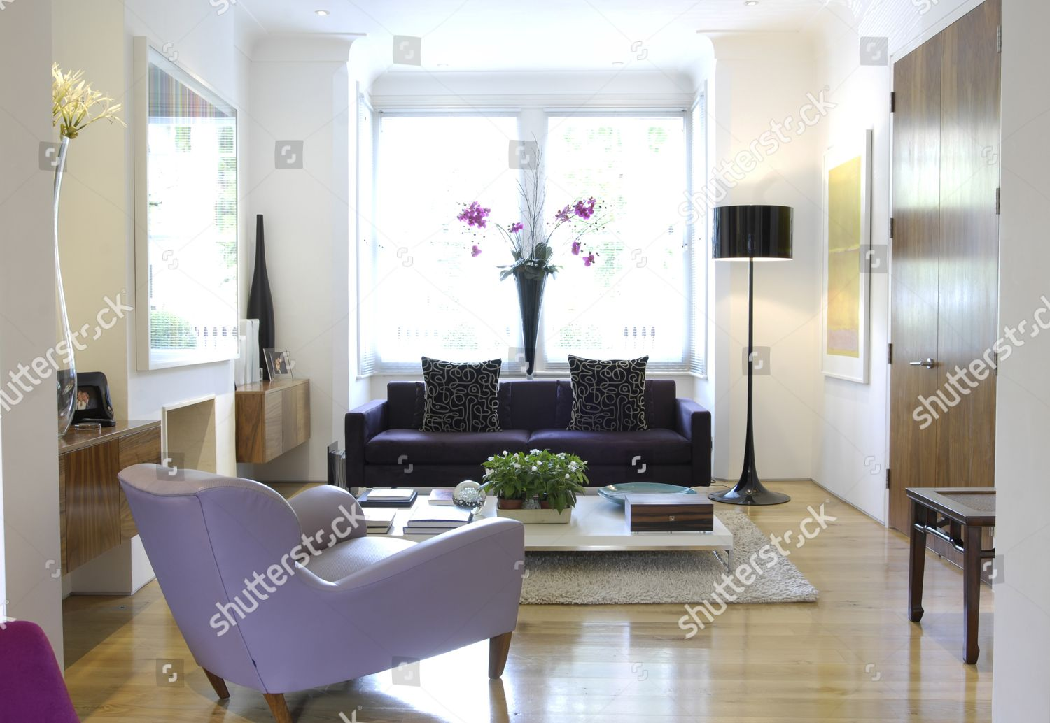 One Section Airy Split Level Living Room Editorial Stock Photo