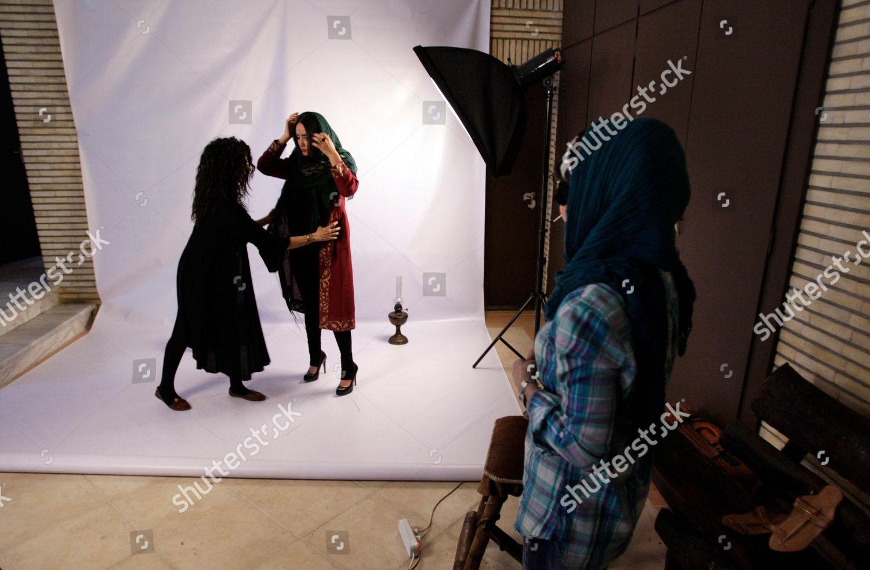 Female Iranian Textile Fashion Designer Sanaz Left Editorial Stock Photo Stock Image Shutterstock