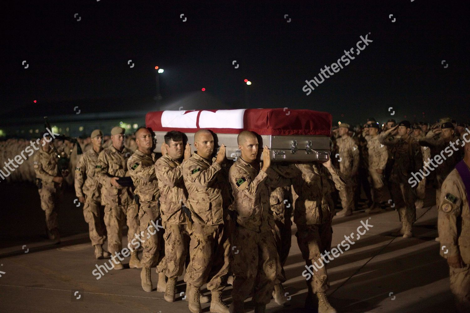Soldiers carry casket Master Cpl Francis Roy Editorial Stock