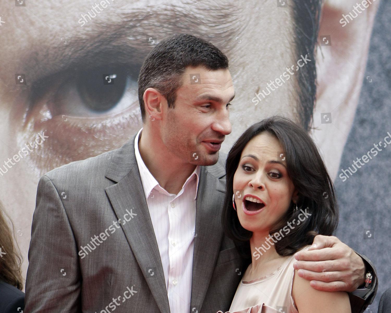 Boxer Vitali Klitschko his wife Natalia pose Editorial Stock