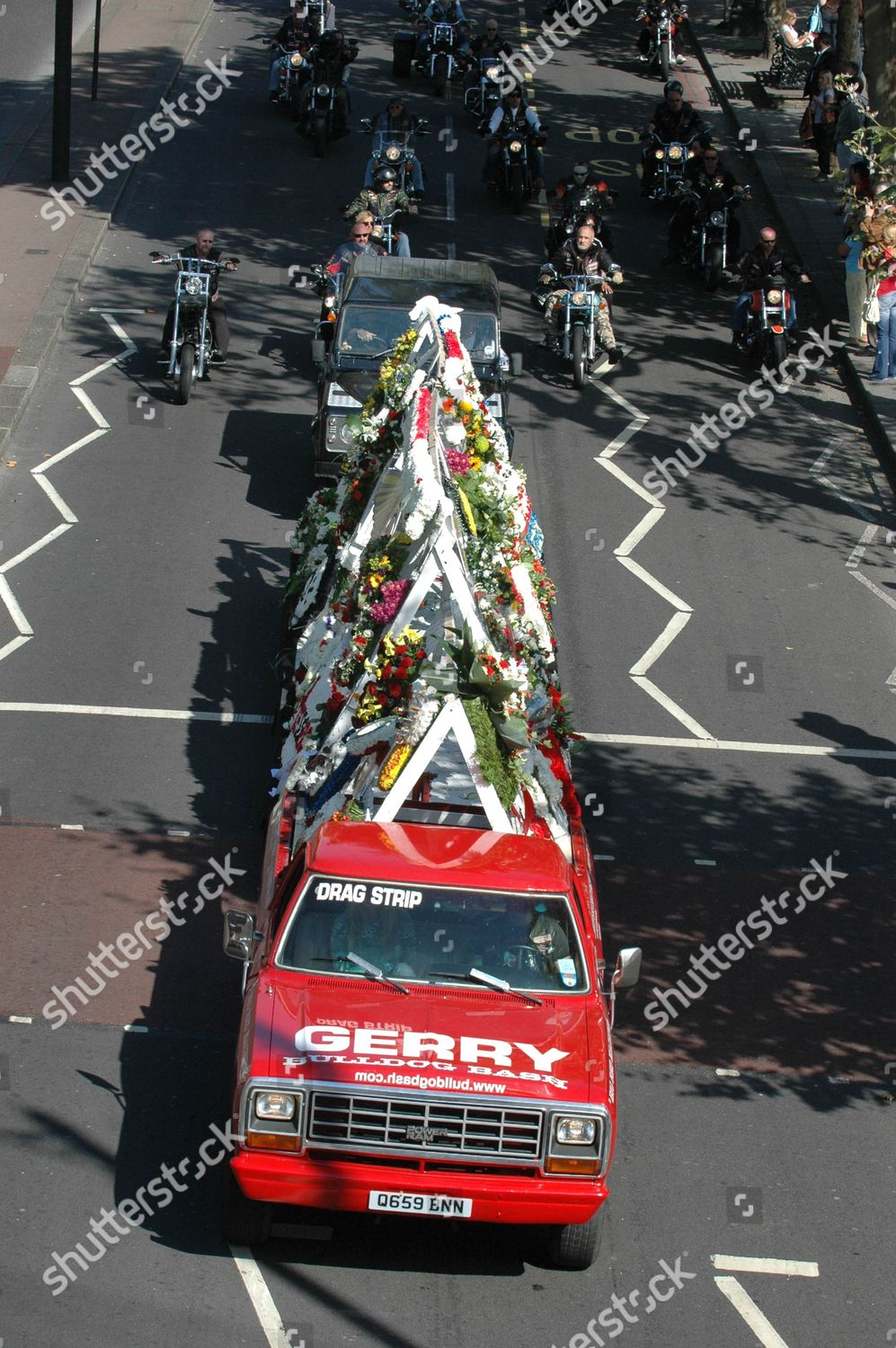 Funeral Gerry Tobin biker Hells Angels London Editorial