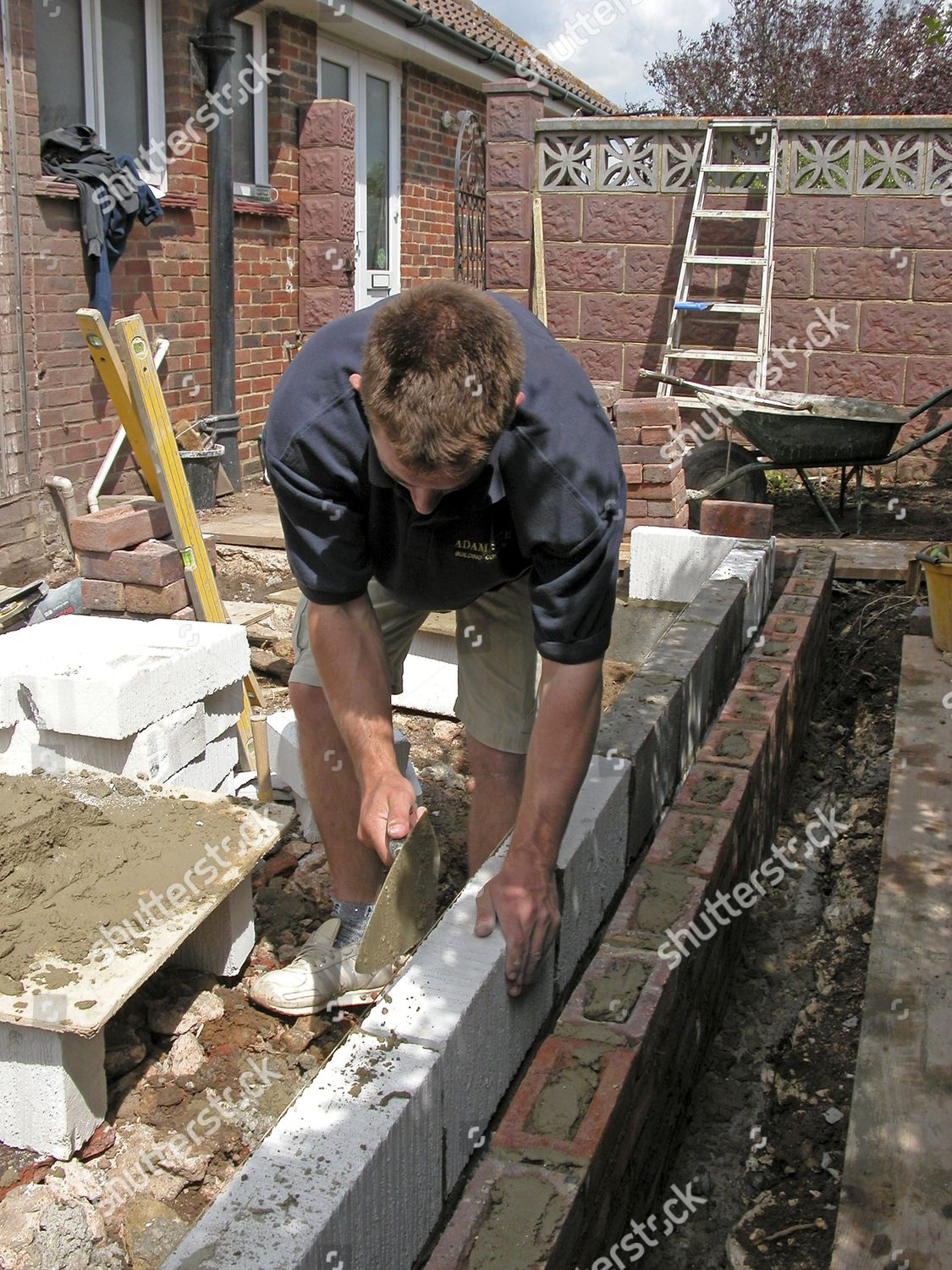 Model Released cementing thermalite bricks home extension