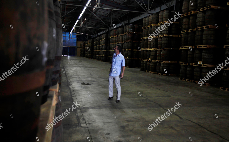 Marc Beuvemery Director Havana Club Looks Barrels Editorial Stock