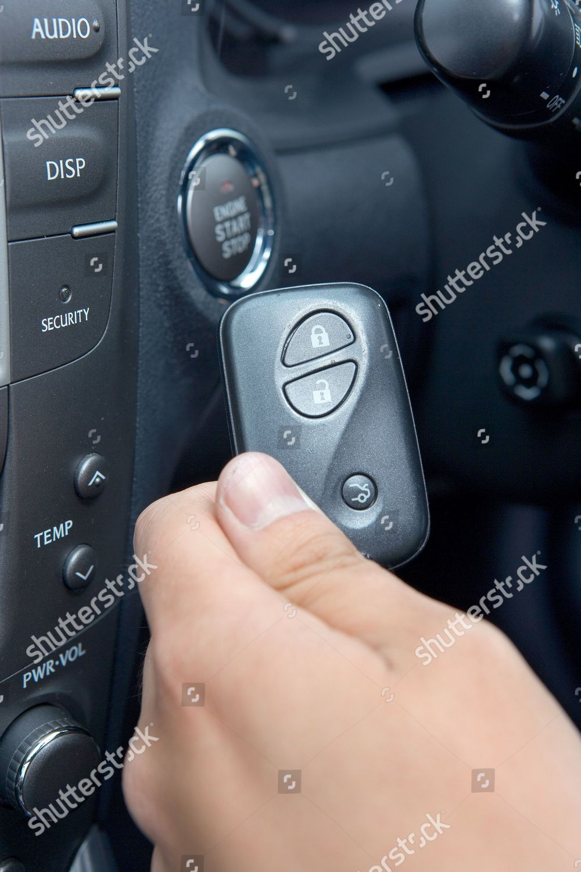 Keyless entry Lexus IS250 SEL auto Editorial Stock Photo