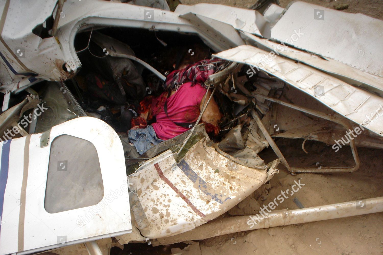 Body victim seen remains plane crashed Nazca Editorial ...