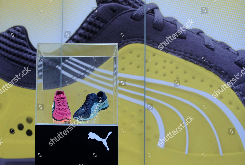Sportschuhe des Sportartikelherstellers Puma aufgenommen