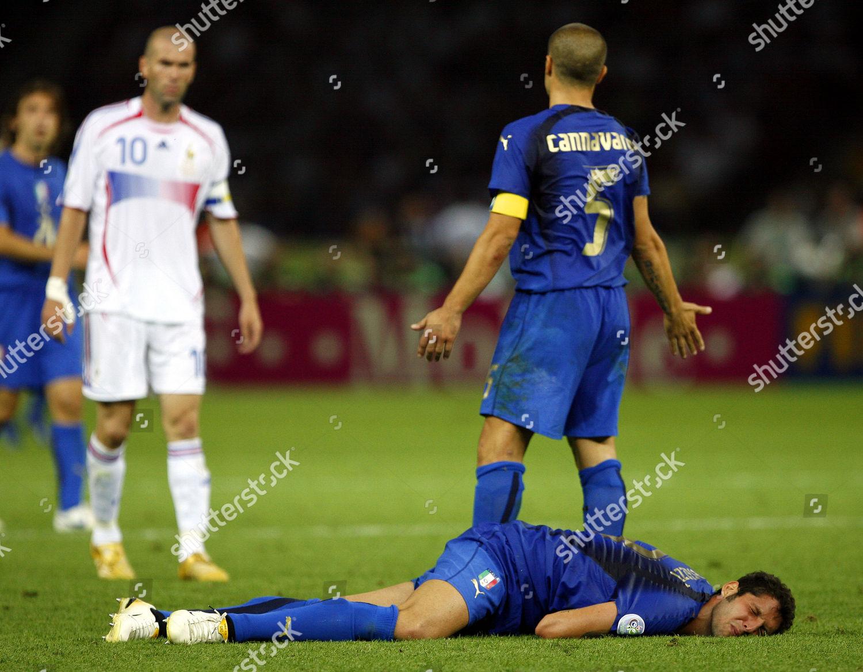 Zinedine Zidane Marco Materazzi Fabio Cannavaro Frances Editorial Stock  Photo - Stock Image