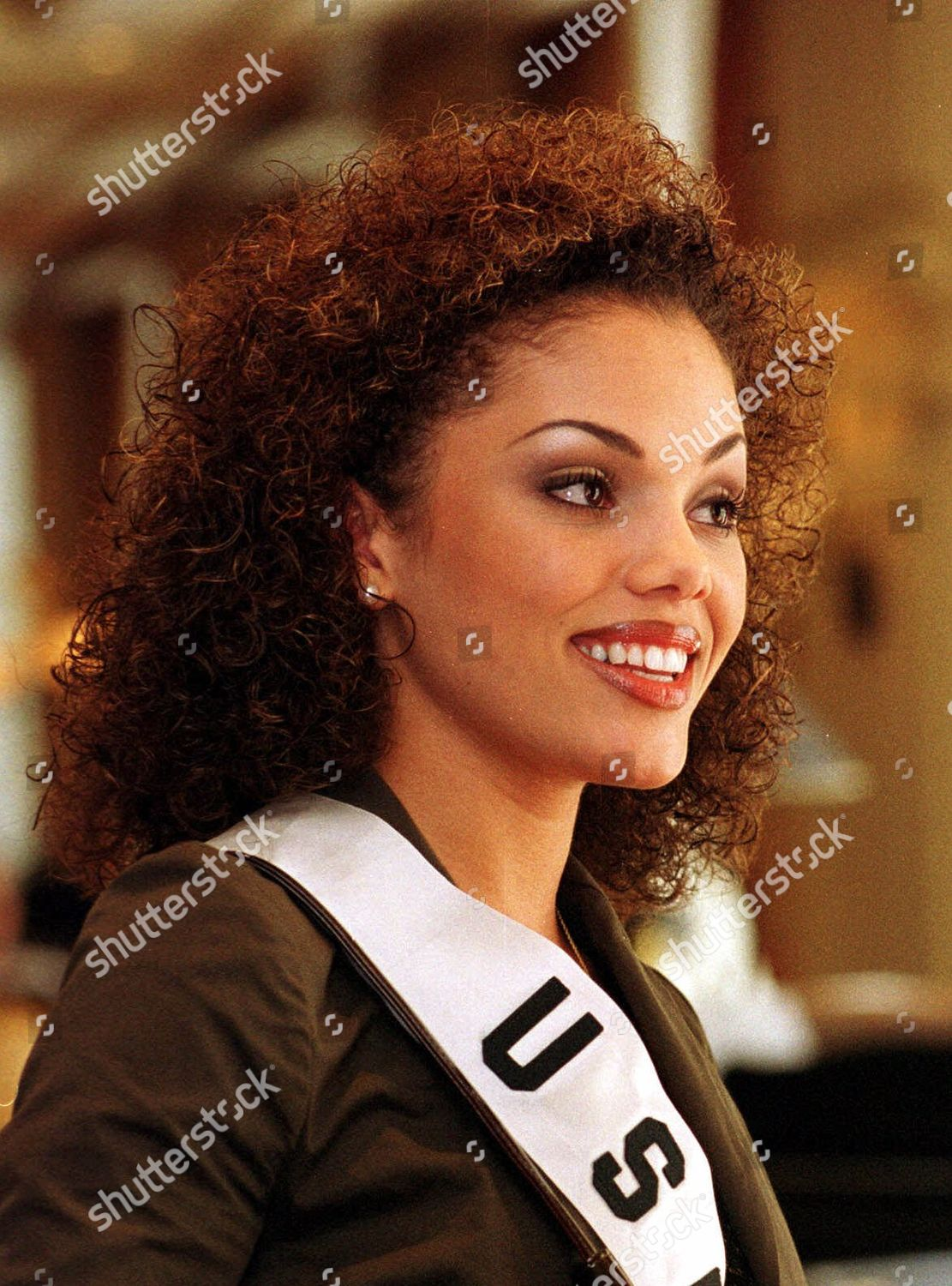 Editorial Stock Photo Of Cole Miss Usa Lynnette Cole Smiles She