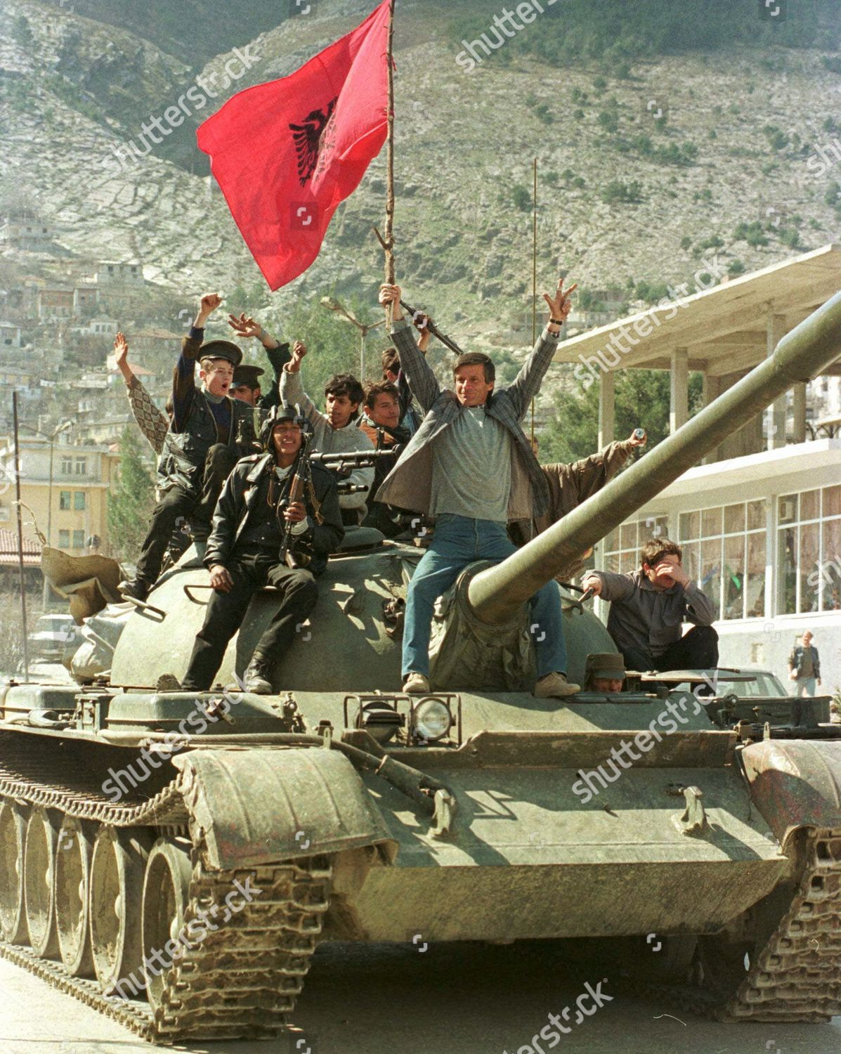 Albanian insurgents jubilate they drive commandeered army Editorial Stock  Photo - Stock Image | Shutterstock