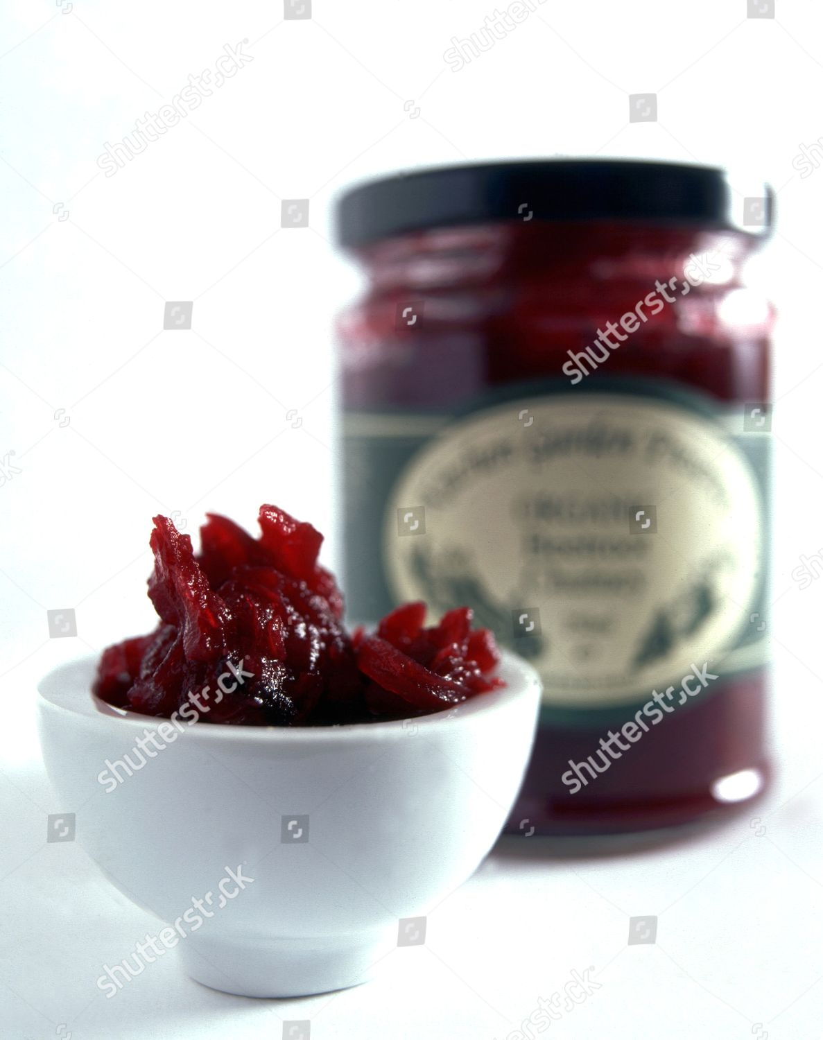 Organic Beetroot Chutney Bowl Jar Background Editorial Stock Photo