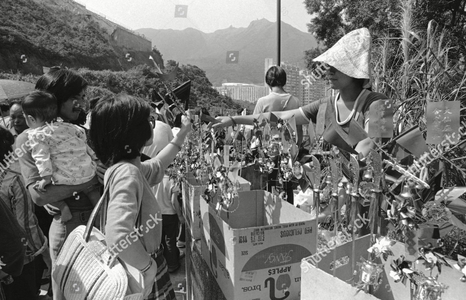 Hong Kong residents on their way pay Editorial Stock Photo