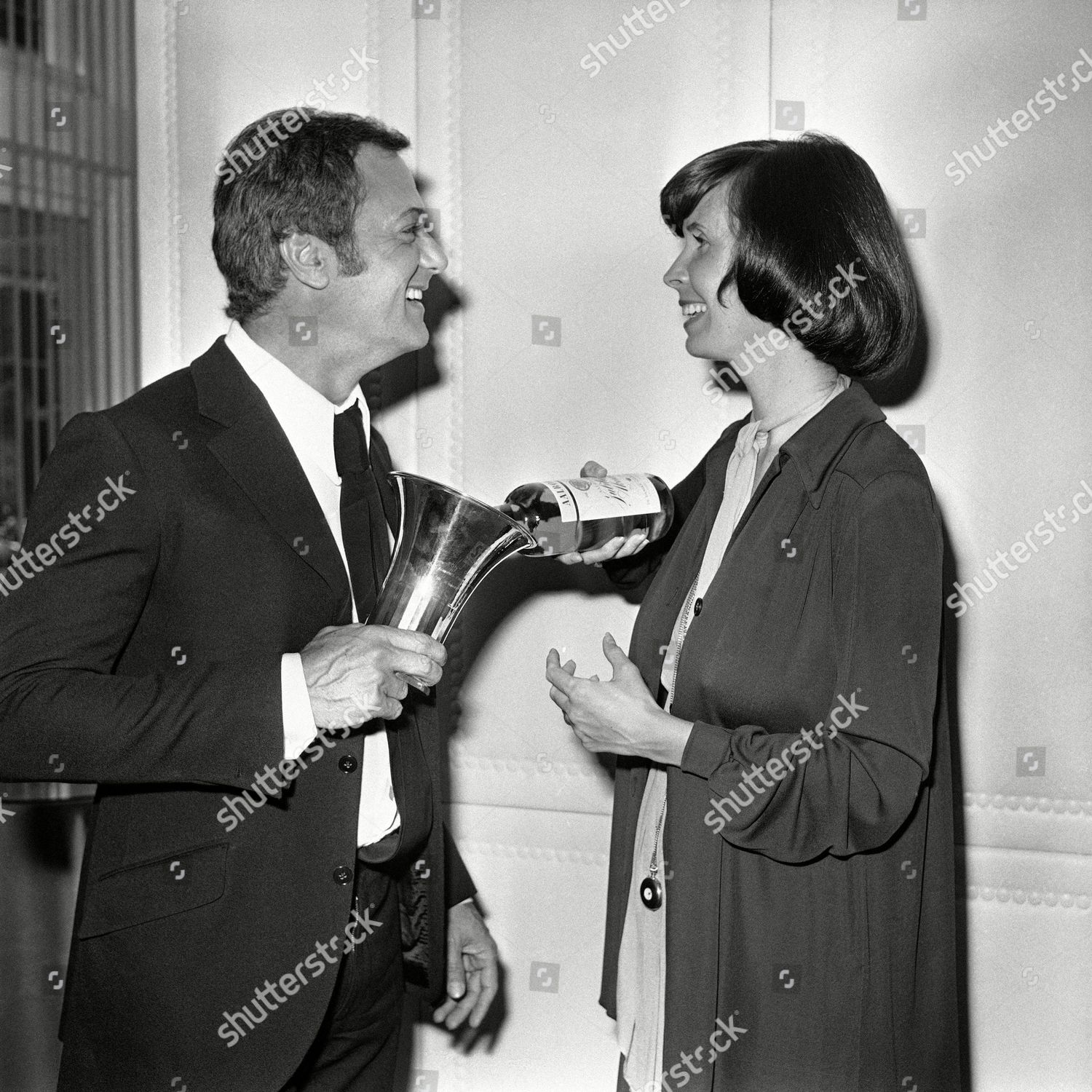 American Actor Tony Curtis His Wife Leslie Editorial Stock Photo