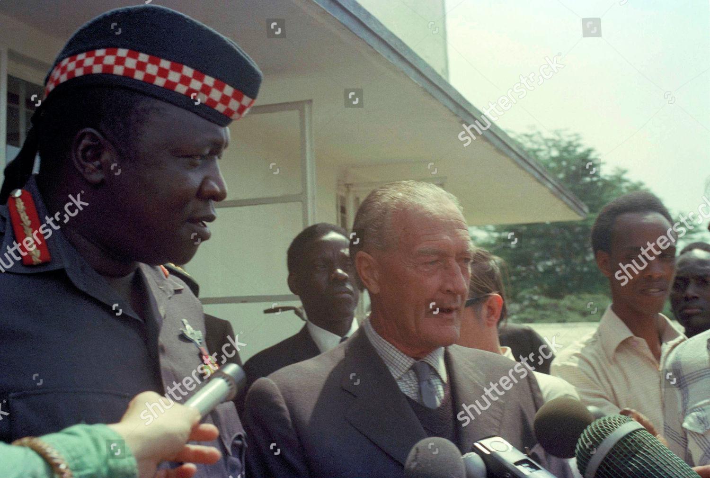President Uganda Idi Amin left joins British Editorial Stock Photo