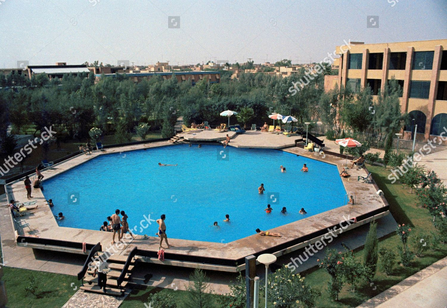 Octagonal Swimming Pool Guest House Iranian National Editorial Stock Photo Stock Image Shutterstock