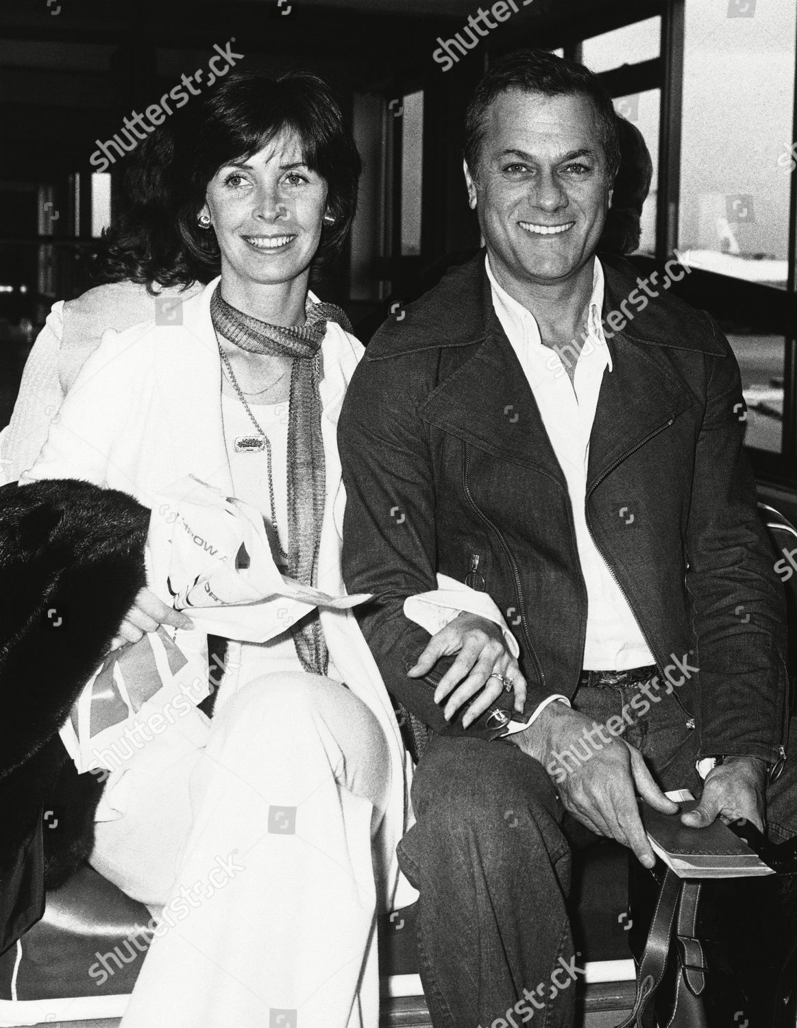 Film Actor Tony Curtis His Wife Leslie Editorial Stock Photo Stock