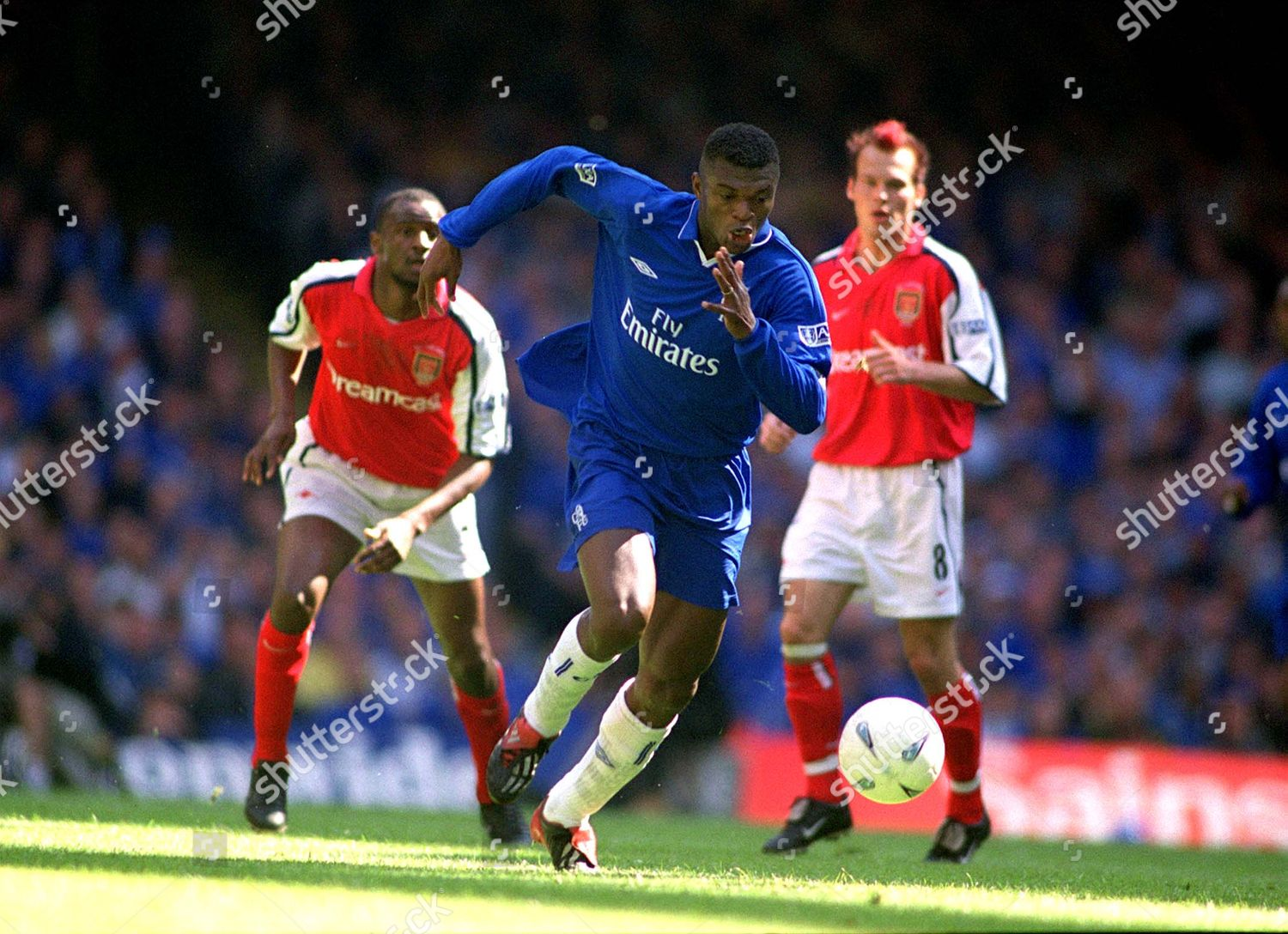 Marcel Desailly Chelsea FA Cup Final 2002」のエディトリアル ...