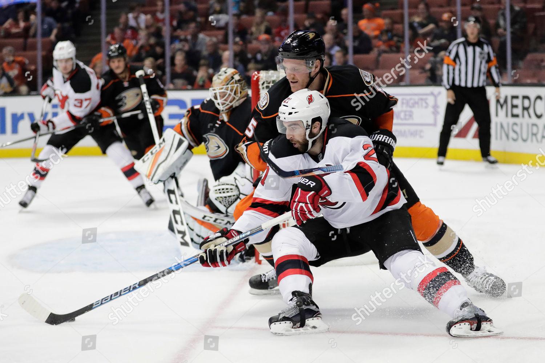Kyle Palmieri Korbinian Holzer New Jersey Devils Editorial Stock