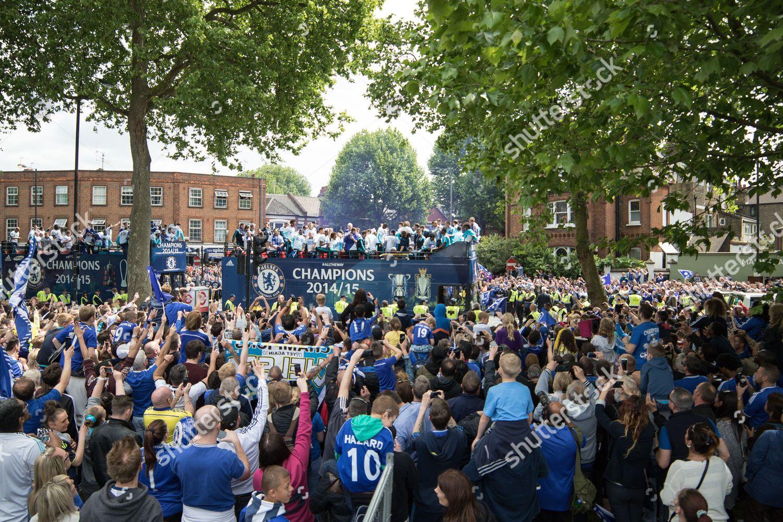 Football 2015 Chelsea Premier League Victory Parade Editorial ...