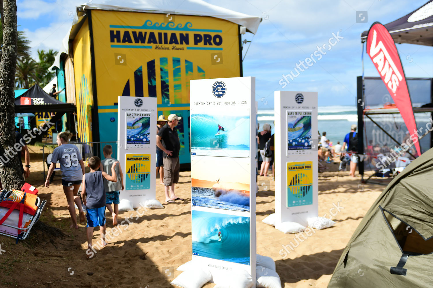 67247d2c6f Stock photo of WSL  World Surfing League Hawaiian Pro Haleiwa Surf Contest  - Vans Triple