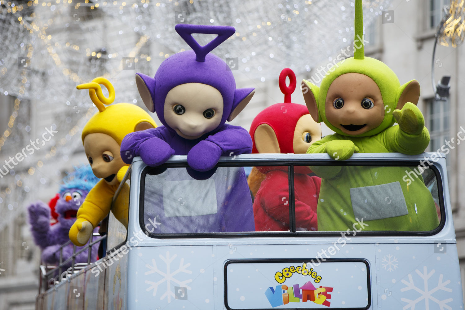 Performers Dressed Teletubbies Wave Children Over 400 Editorial