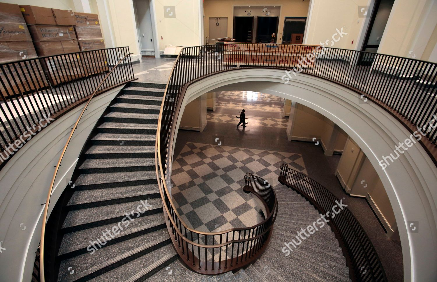 grand staircase seen construction continues Museum American