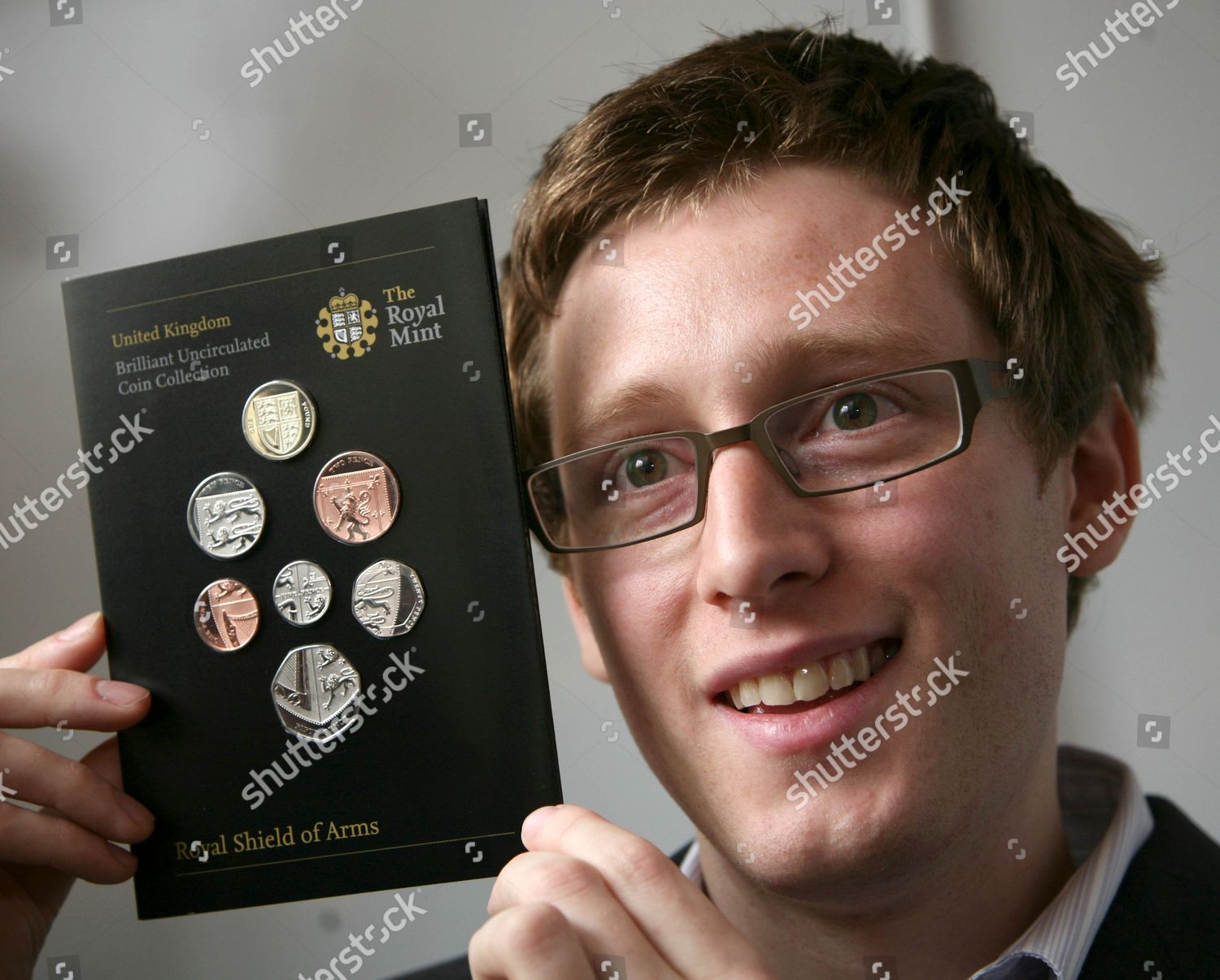 Designer new coins Matthew Dent Editorial Stock Photo - Stock Image