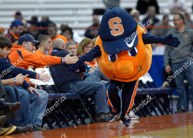 Syracuse Mascot Otto Orange High Fives Some Editorial Stock Photo