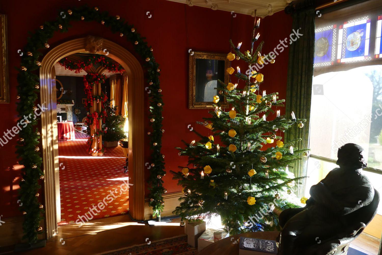 Fairytale Christmas Decorations.Christmas Decorations Around Hughenden Manor Editorial Stock