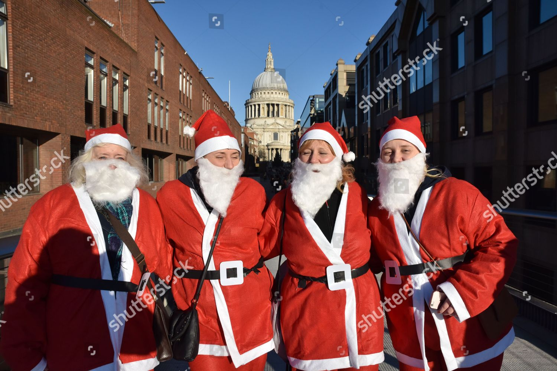 Hundreds Santas Run Through City London Charity Editorial Stock Photo Stock Image Shutterstock