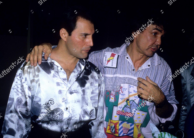 Freddie Mercury y Dave Clark.