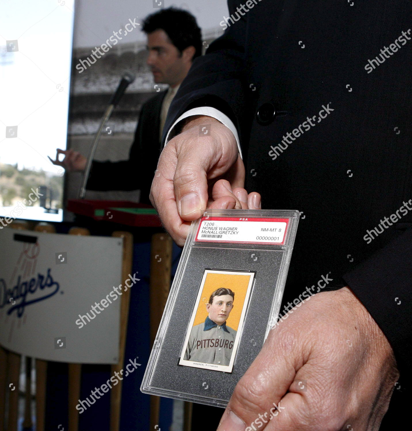 T206 Honus Wagner Baseball Card Displayed By Editorial Stock Photo