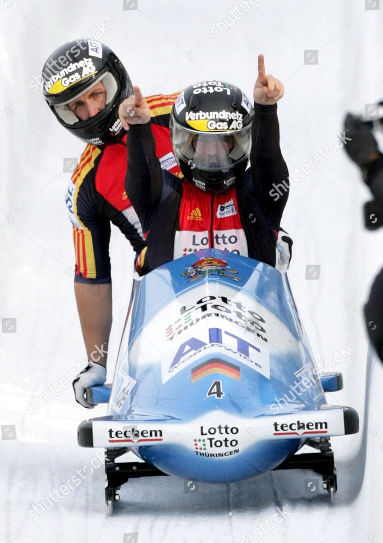 Germany1 Pilot Andre Lange front Brakeman Kevin Editorial