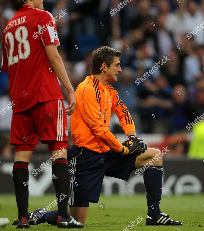 bayern munich goalkeeper joerg butt r reacts editorial stock photo stock image shutterstock 2