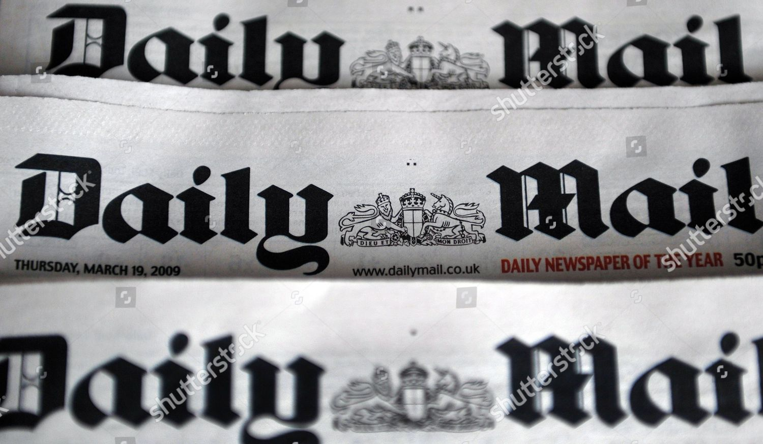 British Newspaper Daily Mail Pictured Here London Editorial