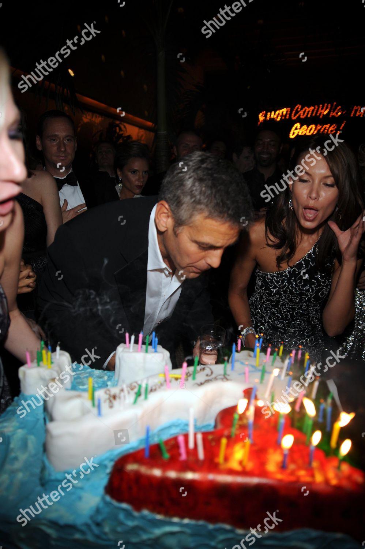 Incredible George Clooney Sarah Larson His Birthday Cake Editorial Stock Funny Birthday Cards Online Sheoxdamsfinfo