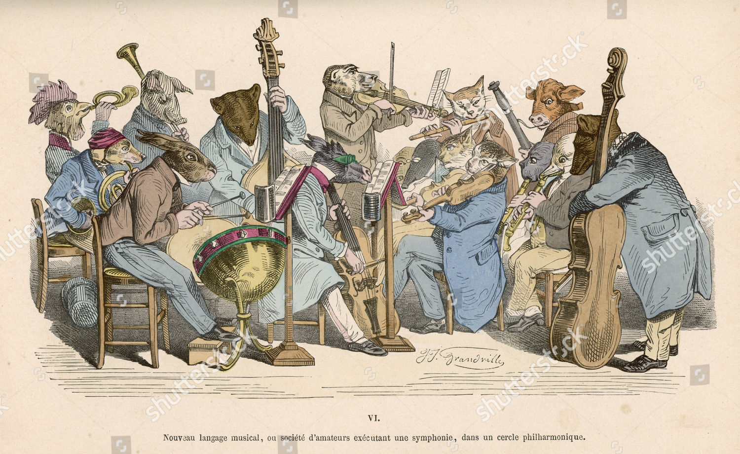 musicians satirised by being represented animals 1828 editorial