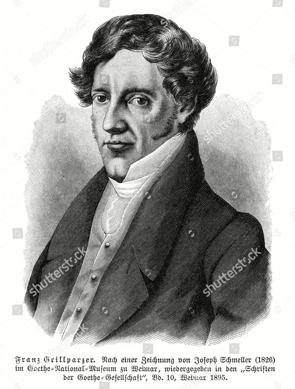 Franz Grillparzer dichter lithographie