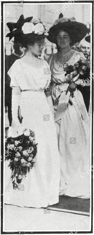 Two Bridesmaids Wedding Winston Churchill Clementine Hozier
