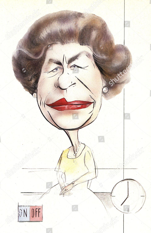 Queen Elizabeth Ii B 1926 Pictured Caricature Editorial Stock Photo Stock Image Shutterstock