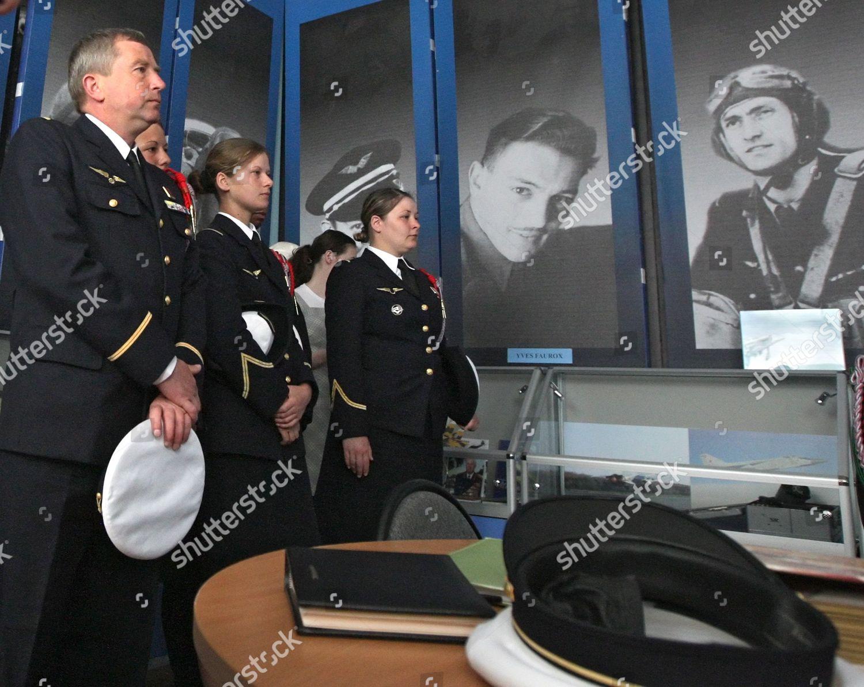 Representatives Normandieniemen Regiment French Air Force Visit